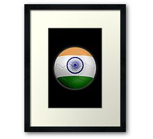 India - Indian Flag - Football or Soccer 2 Framed Print