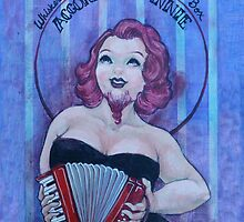 Accordion Annie, Whiskered Mistress of the Squeeze Box by Jenny Fontana