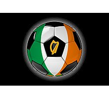 Ireland - Irish Flag - Football or Soccer Photographic Print