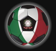 Italy - Italian Flag - Football or Soccer by graphix