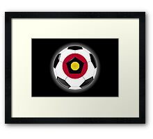 Japan - Japanese Flag - Football or Soccer Framed Print