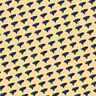 Pop Art Ocarina Tilted Pattern by Megan  Koth