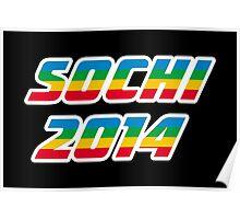 Sochi 2014 Rainbow Text Poster