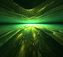 Fantastic abstract background with   multi-layered   pattern with shades of green by Aepsilon