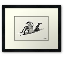 Black Dog (Sketch) Framed Print
