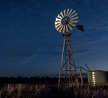 The Twilight Windmill - Laidley Qld Australia by Beth  Wode
