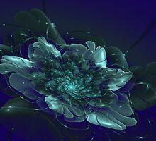 Fantasy shining flower on a dark background by Aepsilon