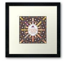 Vector colorful decorative element on native ethnic style Framed Print