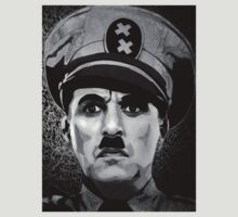The Great Dictator Charles Chaplin black and white  by Adam  James