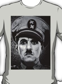 The Great Dictator Charles Chaplin black and white  T-Shirt
