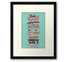 Read Books Framed Print