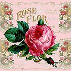 Pretty Paris Rose vintage decoupage design by LeahG shabby chic by LeahG Artist