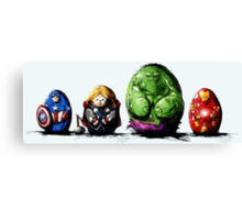 Eggvengers-ASSEMBLE! Canvas Print