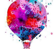 Hot Air Balloon by Watercolorsart
