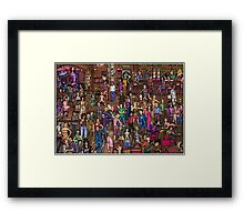 Music stars Framed Print