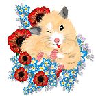 Cute Golden Syrian Hamster by LeahG by LeahG Artist