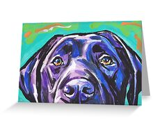 Labrador Retriever Dog Bright colorful pop dog art Greeting Card