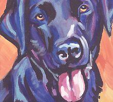 Labrador Retriever Dog Bright colorful pop dog art by bentnotbroken11