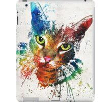 Colorful Cat Art by Sharon Cummings iPad Case/Skin