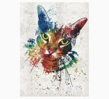 Colorful Cat Art by Sharon Cummings Kids Clothes