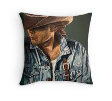 Just Another Cowboy Throw Pillow