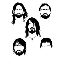 Foo Fighters - Minimalist Heads by Posteritty