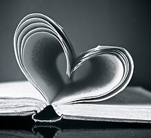 Love heart in black and white by shootingnelly