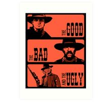 BTTF: The good, the bad and the ugly Art Print