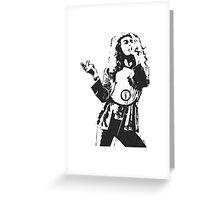 Robert Plant Led Zeppelin Greeting Card