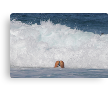 Playing in the Waves Canvas Print