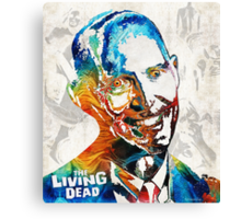 Zombie Art - The Living Dead - Halloween Fun Canvas Print