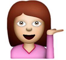 Hair Toss emoji by Chloe Hebert