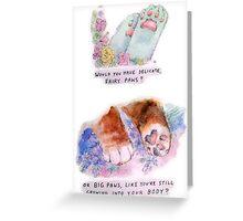 SOFT PAW Greeting Card