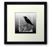 Raven ( GoT ) Framed Print