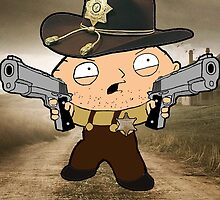 Stewie Walking dead  by Empan