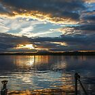 Sunset over Brome Lake, Quebec, Canada  by heatherfriedman