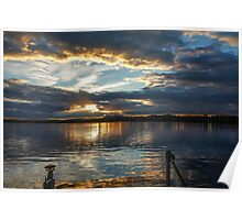Sunset over Brome Lake, Quebec, Canada  Poster