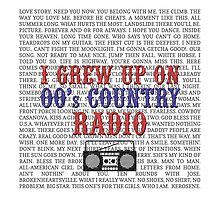 I Grew Up On 00's Country Radio (white tote bag) by For The Country Record