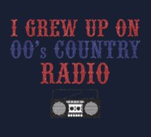 I Grew Up On 00's Country Radio (t-shirt without titles) by For The Country Record