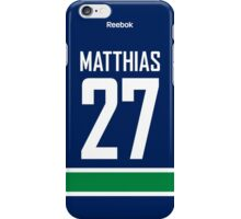 Vancouver Canucks Shawn Matthias Jersey Back Phone Case iPhone Case/Skin