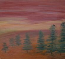 Trees at Sunset (2011) by Penny Vogan
