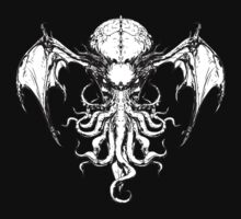 Cthulhu-Sumi (B&W version) by MJ Hiblen