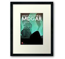 Midgar Travel Poster Framed Print
