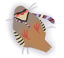 Chukar Partridge Pillow by wendibird