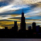 Chicago Skyline at Dusk by Karen Stevens