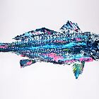 Neon Redfish, Fish Rubbing by alan barbour
