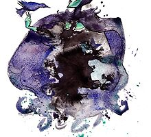 Maleficent inkblot by Mary Doodles by MaryDoodles