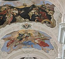 St Thomas the Apostle church, Prague, Czech Republic, frescoes by Margaret  Hyde