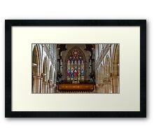Sacred Hearth Cathedral Stained Glass Windows Framed Print