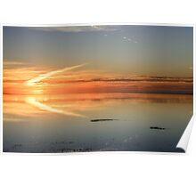 Sunset in flight Poster